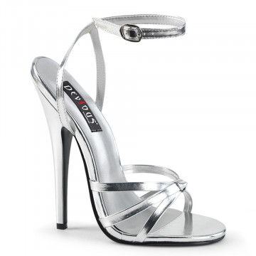 Devious DOMINA-108 Silver Metallic Pu