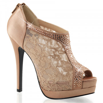 Fabulicious BELLA-26 Blush Satin-Lace