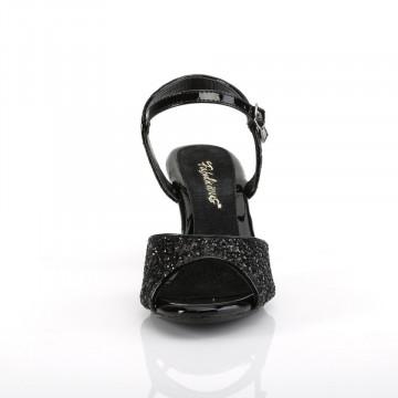 Fabulicious BELLE-309G Blk Glitter/Blk Glitter