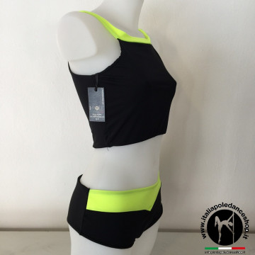 I-POLE WEAR - Top Nero-Neon o Nero-Nero