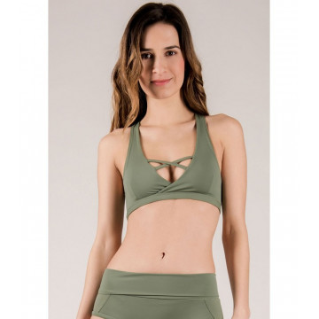 MADEMOISELLE SPIN - TOP PIGALLE Verde ARMY GREEN
