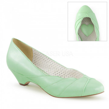Pin Up Couture LULU-05 Mint Faux Leather