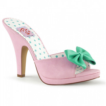 Pin Up Couture SIREN-03 B. Pink-Teal Faux Leather