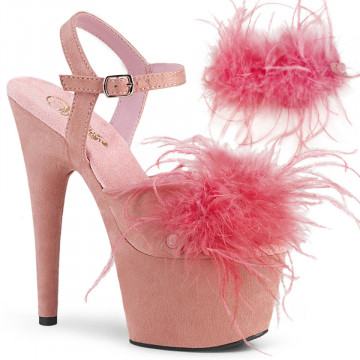 Pleaser ADORE-709F B. Pink F.Suede-Feather/B. Pink