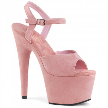 Pleaser ADORE-709FS B. Pink Faux Suede/B. Pink Faux Suede