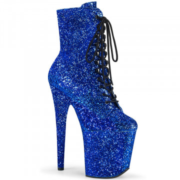Pleaser FLAMINGO-1020GWR Royal Blue Glitter/Royal Blue Glitter