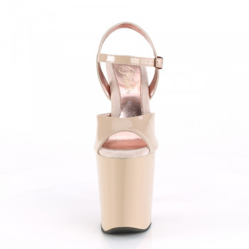 Pleaser XTREME-809TT Nude Pat/Nude-Rose Gold Chrome
