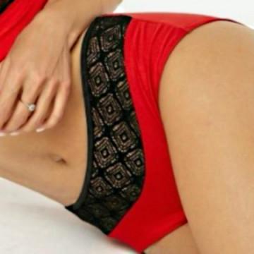 Polerina Roxana Rosso - Licra e lace disegnato