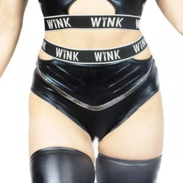 Wink WETLOOK GRIP ATHENA HIGH WAIST SHORTS W0199