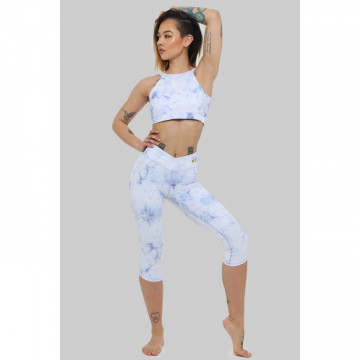 Capri Leggings: Frosted Marble