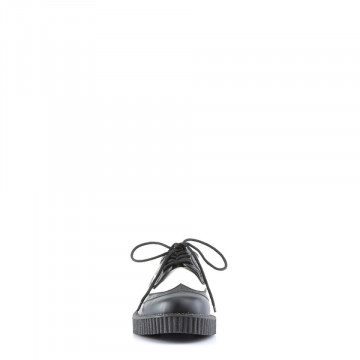 Demonia CREEPER-608 Blk-Wht Leather