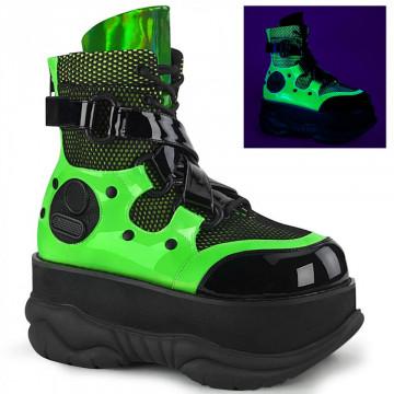 Demonia NEPTUNE-126 Blk-Green Pat Multi