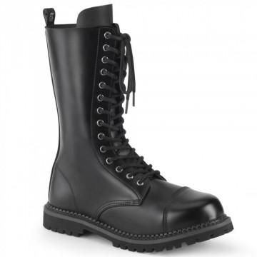 Demonia RIOT-14 Blk Leather