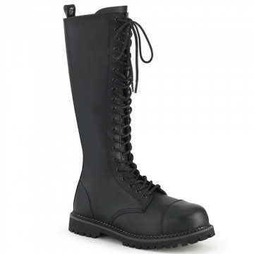 Demonia RIOT-20 Blk Vegan Leather