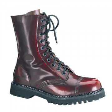 Demonia ROCKY-10 Burgundy Rub-Off Leather