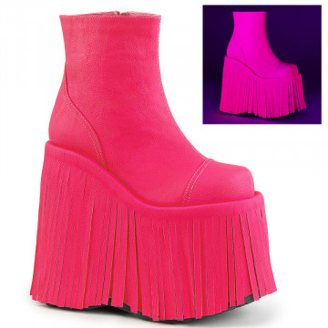 Demonia SLAY-205 Neon H. Pink Vegan Leather
