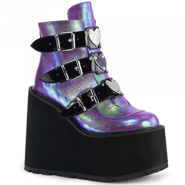 Demonia SWING-105 Purple Iridescent Vegan Leather
