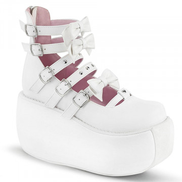 Demonia VIOLET-45 Wht Vegan Leather