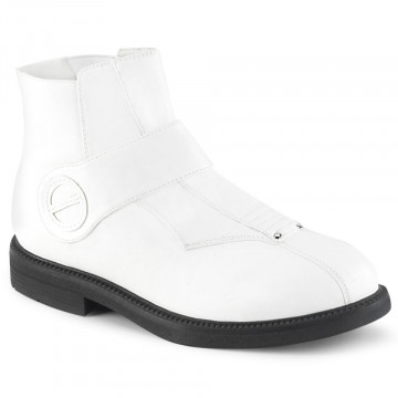 Funtasma CLONE-102 White Faux Leather