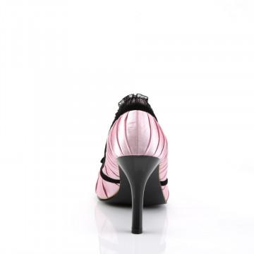 Funtasma DAINTY-420 B. Pink-Blk Satin
