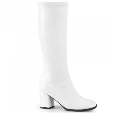 Funtasma GOGO-300-2 White Str. Faux Leather