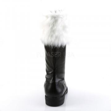 Funtasma SANTA-100 Blk Pu-Wht Faux Fur