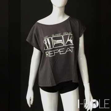 I-Pole EAT SLEEP POLE REPEAT T-Shirt Corta Poledance