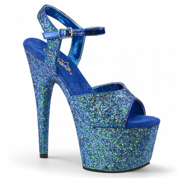 Pleaser ADORE-710LG Blue Holo Glitter/Blue Holo Gl