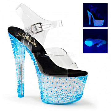 Pleaser CRYSTALIZE-308PS Clr/Neon Icy Blue