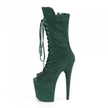 Pleaser FLAMINGO-1051FS Emerald Green F.Suede/Emerald Green F.Suede