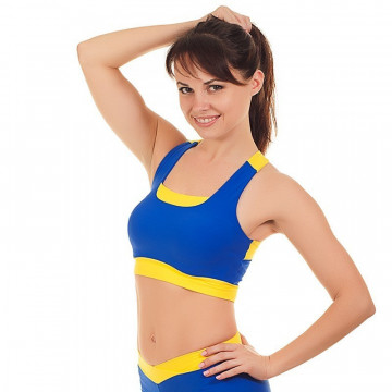 Pole Candy Wear - Top Kate. Electric Blue Yellow - Subito Disponibile!