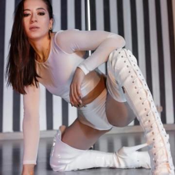 Polerina wear Top Bolero Bianco mesh + double lycra