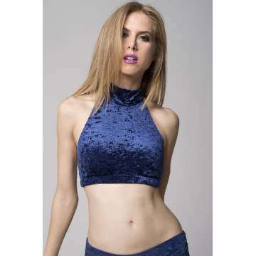 RAD POLE - EVE top NAVY BLUE In Negozio