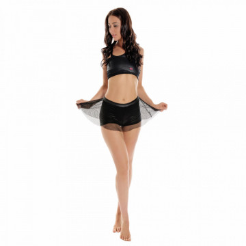WINK POLE WETLOOK GRIP DANCE SKORT W0131