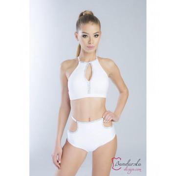 Bandurska Design - Estefania Jimenez Top Bianco