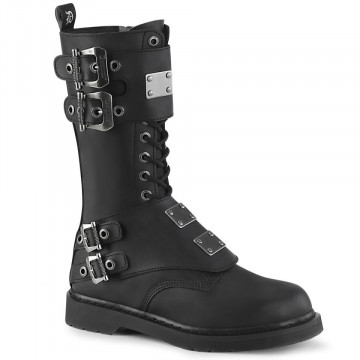 Demonia BOLT-345 Blk Vegan Leather