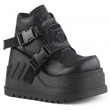 Demonia STOMP-15 Blk Vegan Leather