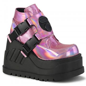 Demonia STOMP-15 Pink Hologram-Glitter