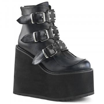 Demonia SWING-105 Blk Vegan Leather
