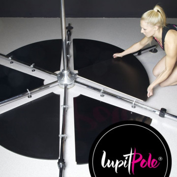 LUPIT Pedana pole dance INOX grip 45 short leg