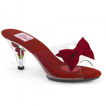 Pin Up Couture BELLE-301BOW Clr-Red/Clr