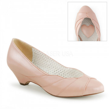 Pin Up Couture LULU-05 B. Pink Faux Leather