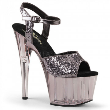 Pleaser ADORE-710GT Pewter Glitter/Smoke Tinted