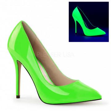 Pleaser AMUSE-20 Neon Green Pat