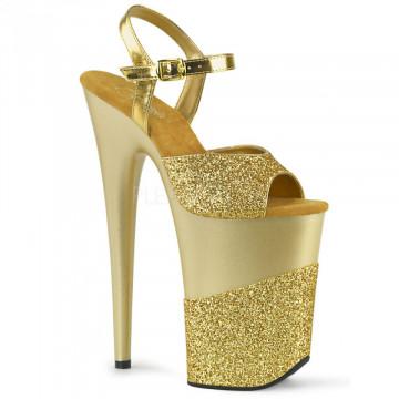 Pleaser INFINITY-909-2G Gold Glitter/Gold Glitter