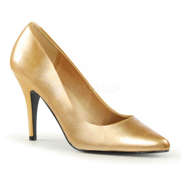 Pleaser VANITY-420 Gold Faux Leather