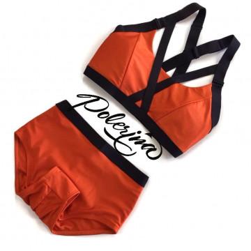 Polerina Shibari-Autamn Orange Top