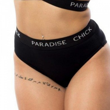 SHORT HIGH WAIST LOGO BAND BLACK paradise
