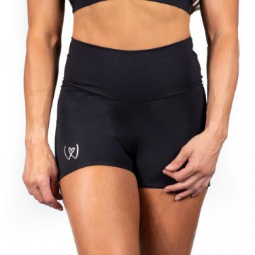 WINK POLE WARRIOR COMPRESSION SHORTS H24 pronti neri argento