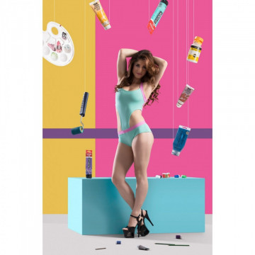POINT OUT  COMPLETO BODY AQUAMARINE LEOTARD